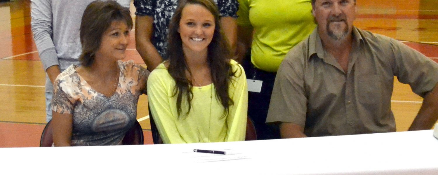 Gaston's Lawson signs volleyball scholarship