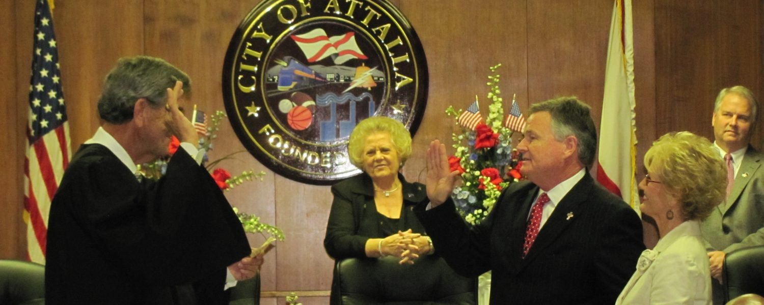 Means sworn in as mayor of City of Attalla