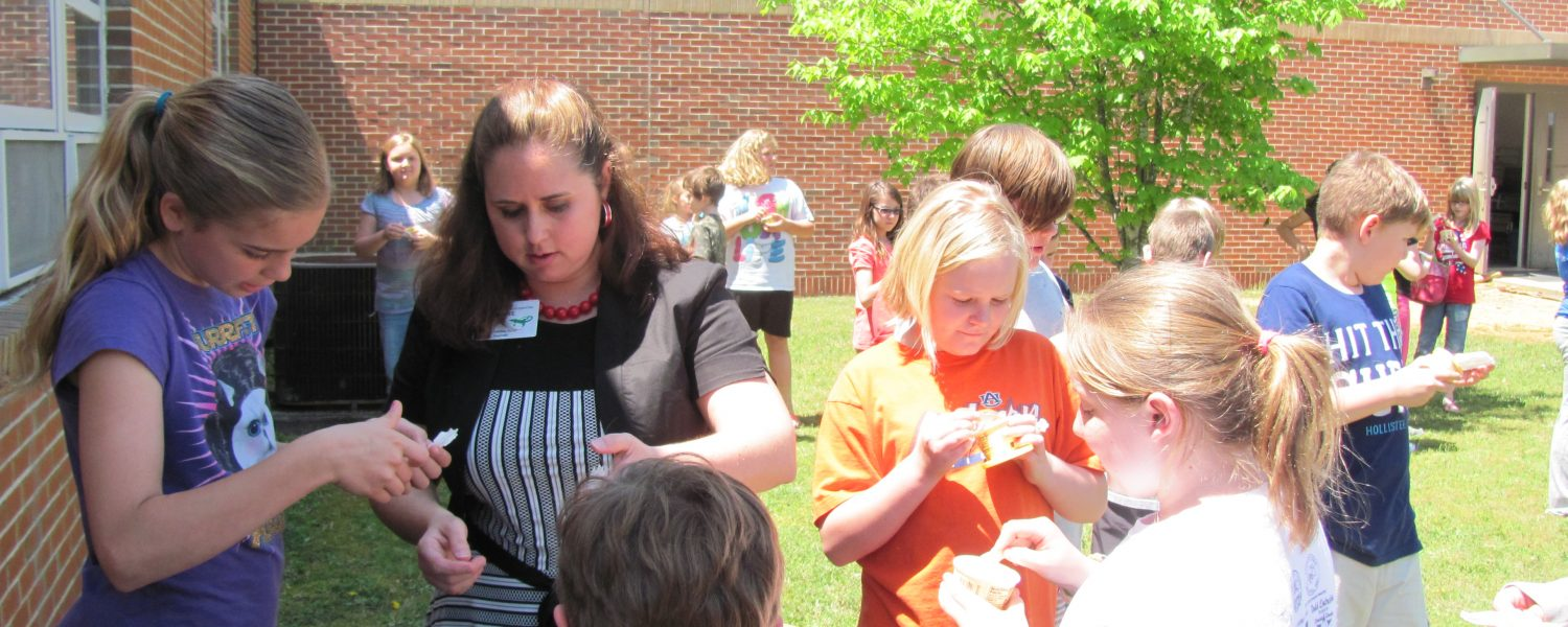 Teacher earns ice cream for Iva Lee Students