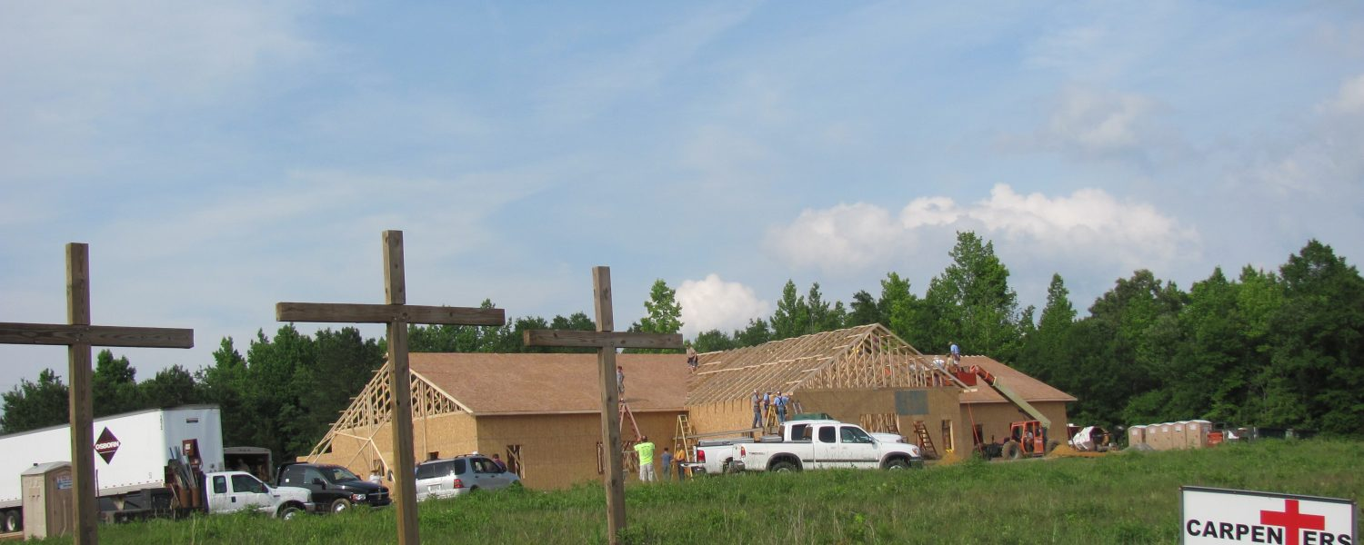 Carpenters for Christ work with Mt. Olive to build church
