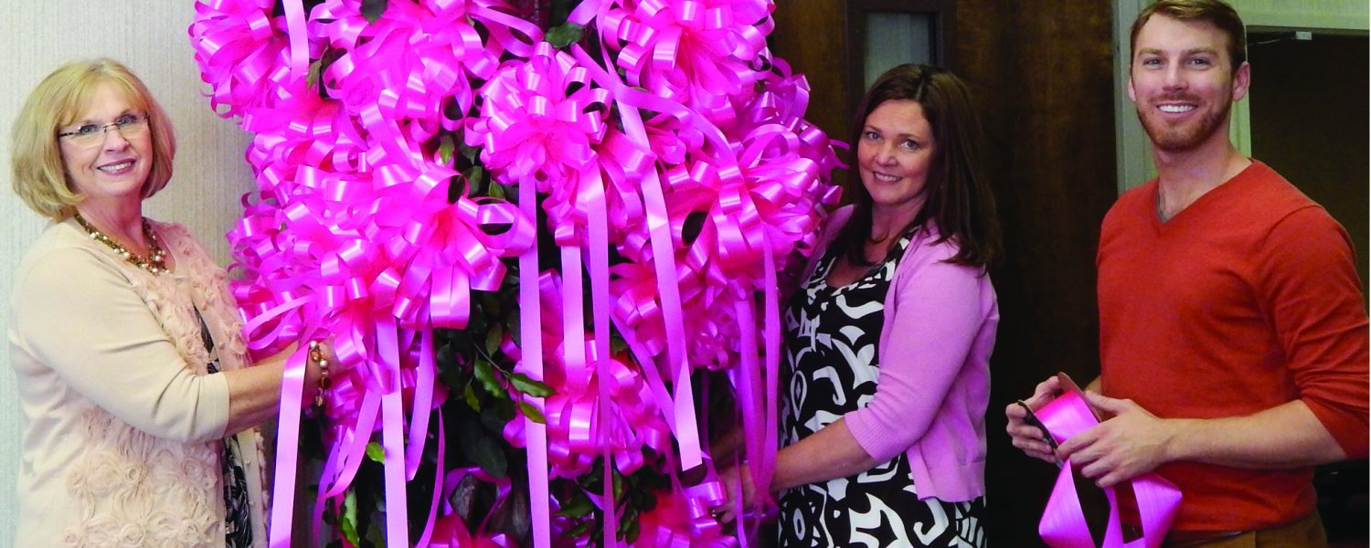 Need a pink ribbon for your business? The Chamber has it all tied up for you