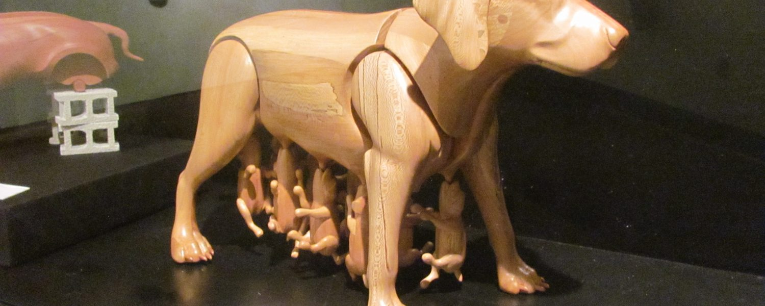 Hardin Center showcases 'In the Doghouse' sculpture exhibit