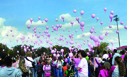 Gaston School pink balloon finds its way to Georgia