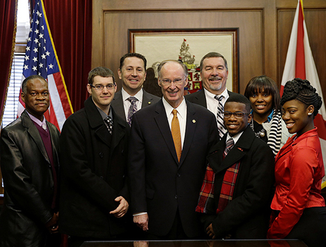 Gadsden Job Corps students pay visit to Governor Bentley
