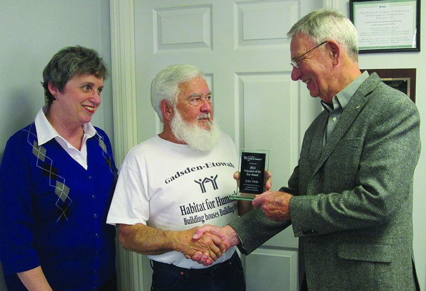 Habitat for Humanity volunteer John Parks honored