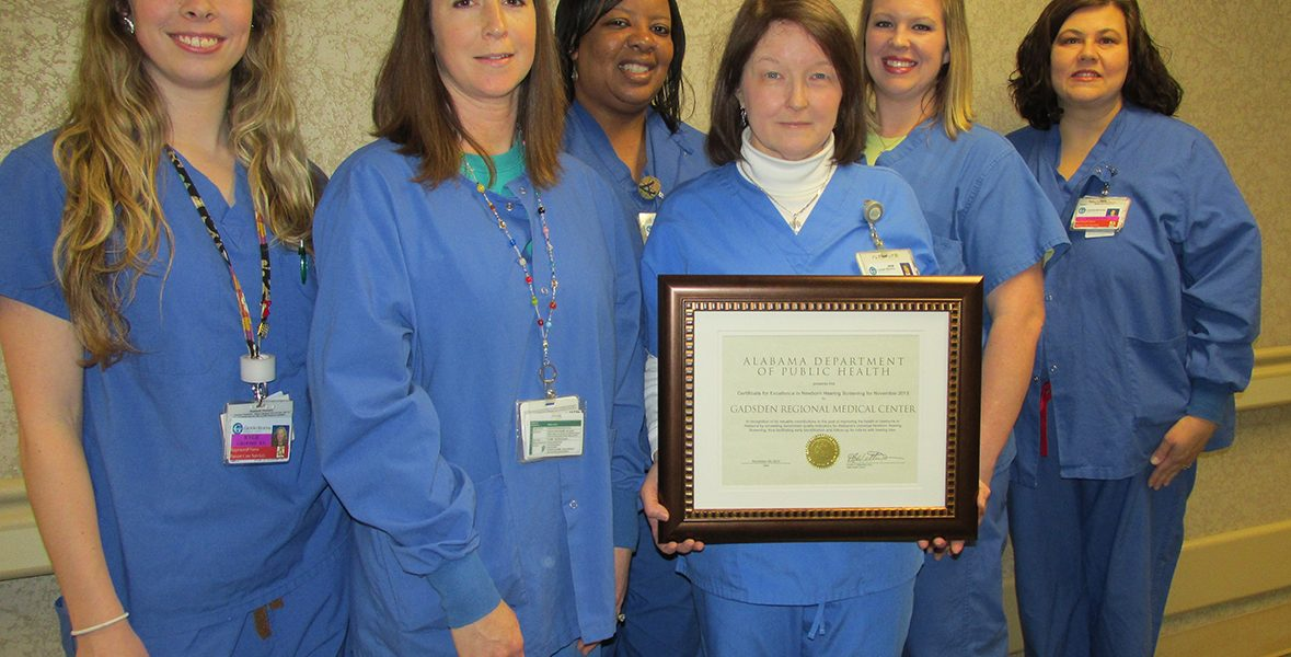 GRMC Nursery recognized by Alabama Department of Public Health
