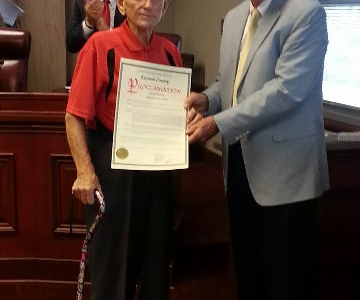 Boyd honored for service now and in WWII