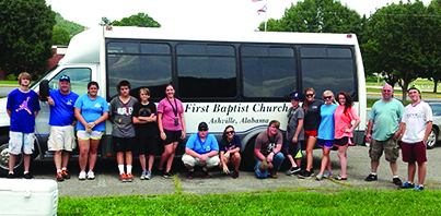 Youth groups forgo beach trip to help others