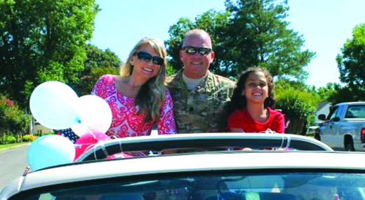 Lt. Col. gets surprise welcome home