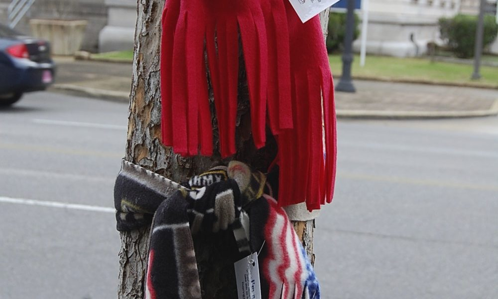 Local church leaves scarves for those in need