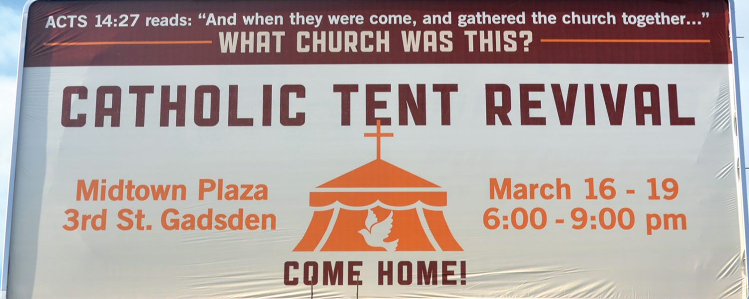 St. James Catholic Church to hold tent revival