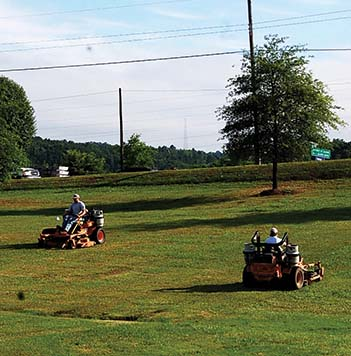 Public Works begins grass cutting program