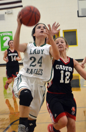 Lady Eagles breeze past Gaston in county tournament quarterfinals