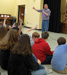 Think 2 Change speaks to Glencoe Middle students