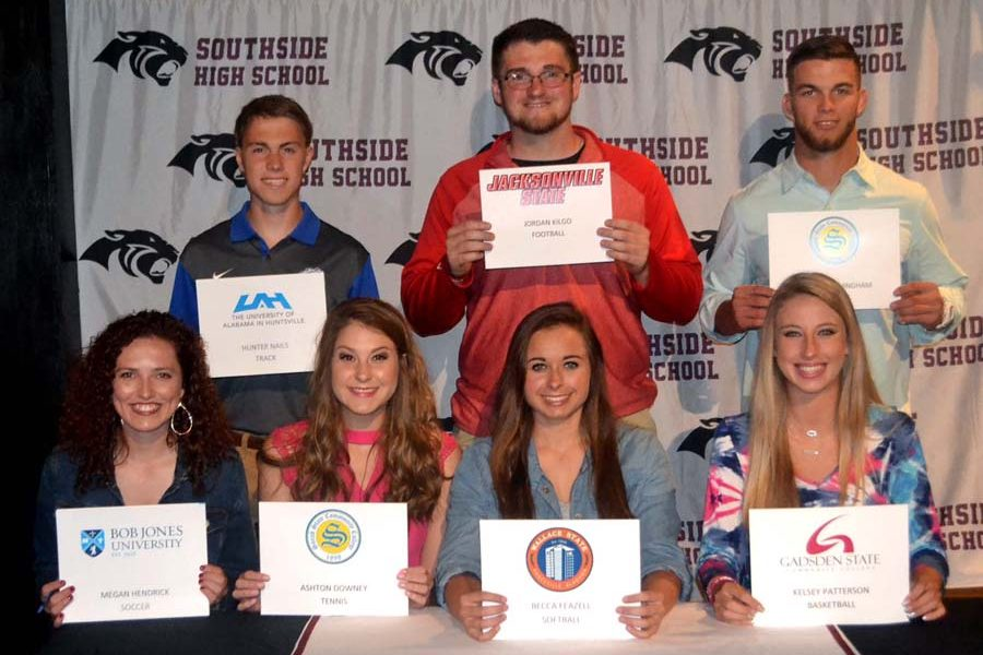 Panther student-athletes sign college scholarships