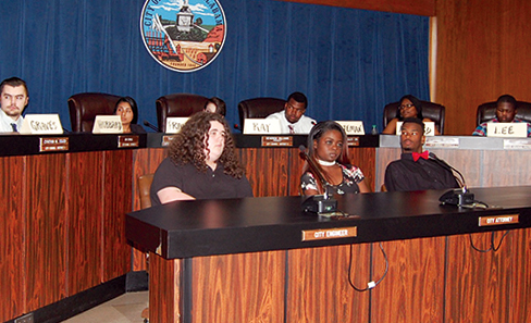 Students take over city government for a day