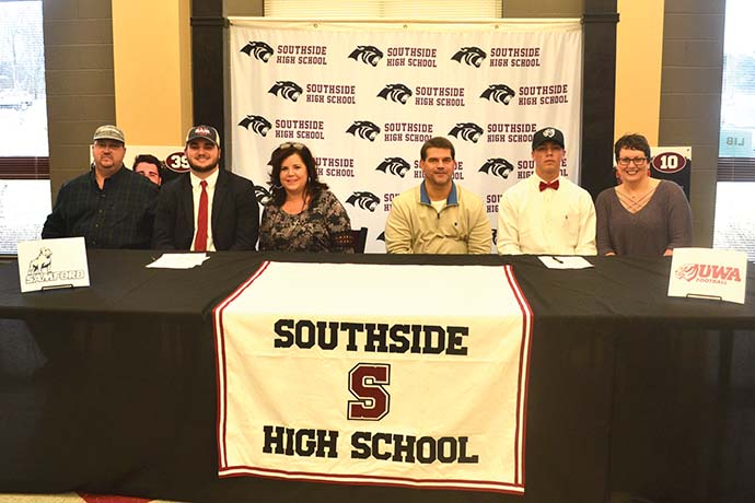 Panther duo sign football scholarships