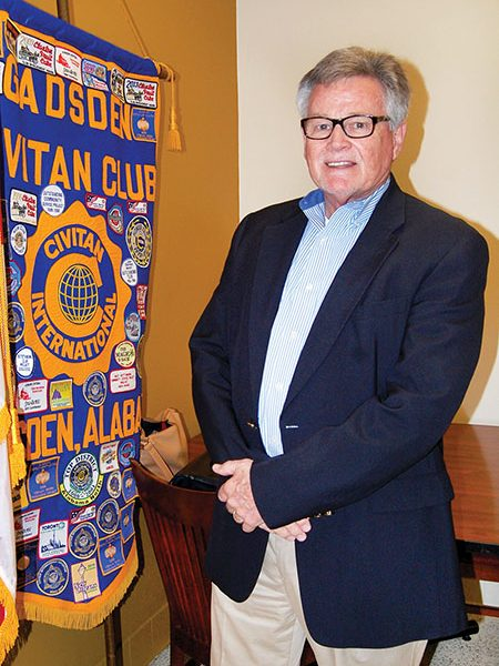 Larry Means talks to Gadsden Civitans Club