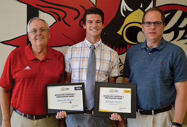 GSCC tennis player wins state and national awards
