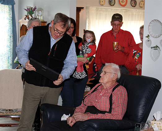 Veteran receives high school diploma at 92